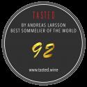 Weltbester Sommelier ANDREAS LARSSON vergibt für unseren MLM GV 20 ausgezeichnete 92 Punkte!